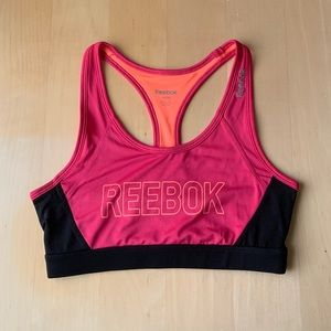 Reebok Pink and Coral Sports Bra
